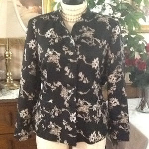 Charter Club Jackets & Coats - SILK Asian Floral Blazer Jacket Sissy Queen 18W
